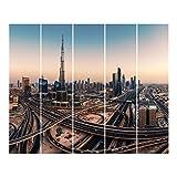 Bilderwelten Panel japonés Cortinas Riel Evening In Dubai Set Montaje de Pared, 250 x...