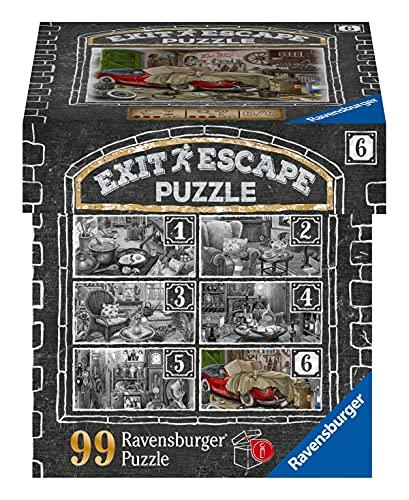 Ravensburger EXIT Puzzle 16882 - Im Gutshaus Garage - 99 Teile Puzzle für Erwachsene und Kinder ab 14 Jahren