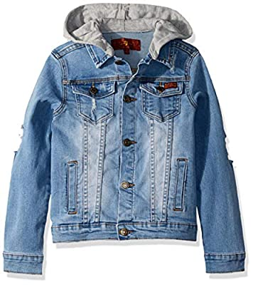 7 For All Mankind Boys' Little Denim Jacket, Tribeca Wash, 5