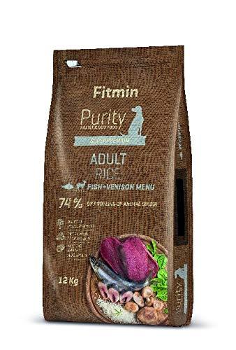Fitmin 12kg Purity Dog Rice Adult Fish & Venison glutenfreies Hundefutter