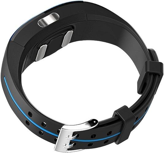 P3 Smart Bracelet PPG + ECG électrode Photoélectrique électrocardiogramme Tension Artérielle Mesure de Fréquence Cardiaque IP67 Imperméable Rechargeable podomètre Fitness Bracelet(bleu)