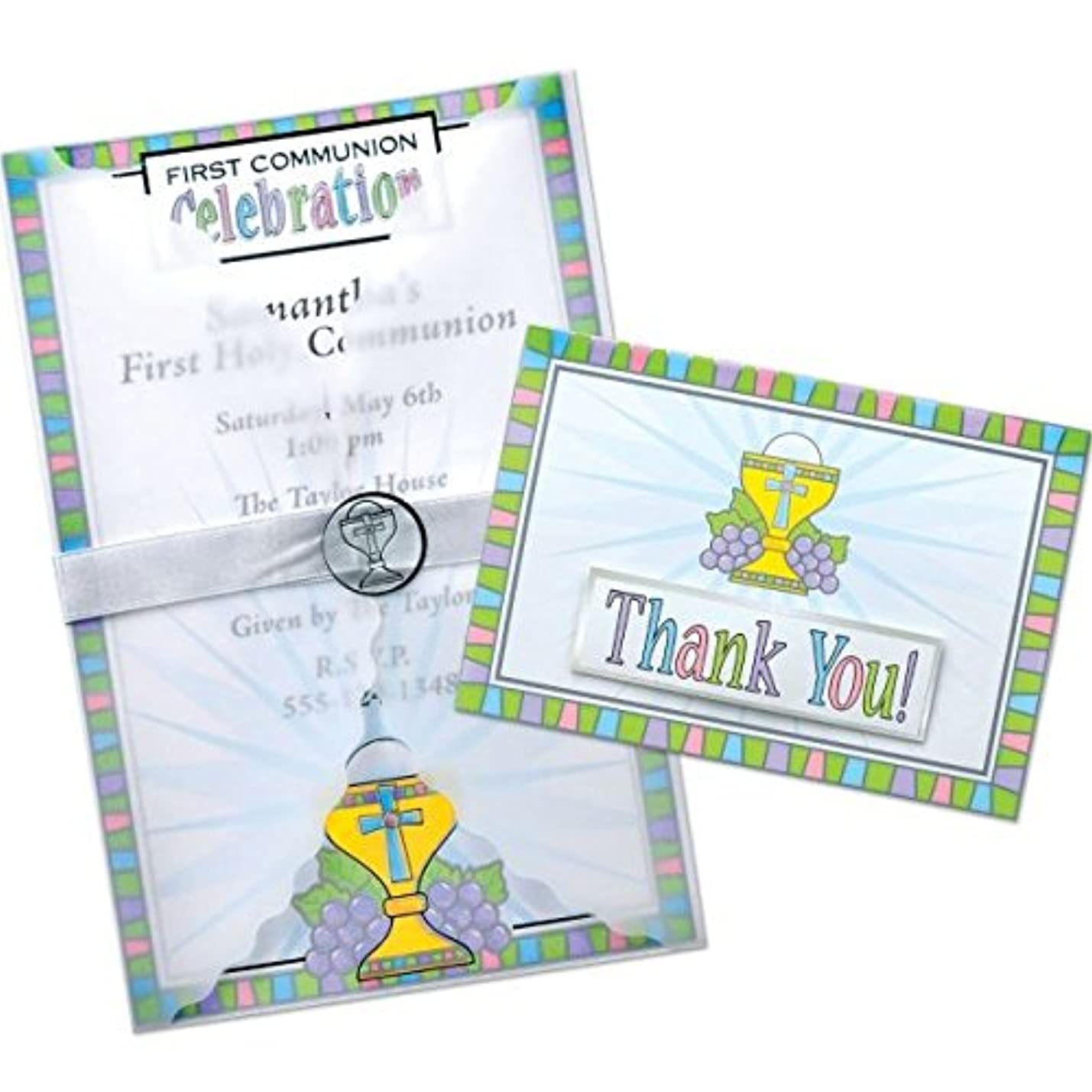 Amscan Deluxe Communion Paper Invitation Card Kit, 25 Ct. | Assorted Colors | Party Supply jwcbpxnsptxcv259