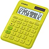 Casio MS-20UC-YG Calcolatrice da Tavolo, Giallo
