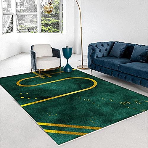 Alfombra Cama Alfombra Bambu Alfombra De Corte Verde, Diseño De Pelo, Cuarto De Cabello Alfombra Infantil Grande 180x250cm