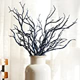 Artificial Tree Branch Wood Fake Plant Plastic Branches Plant for Wedding Party Home Church Office Decoration(Blue)
