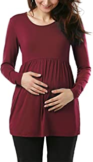 Jezero Women's Maternity Tops Short & Long Sleeve Side...