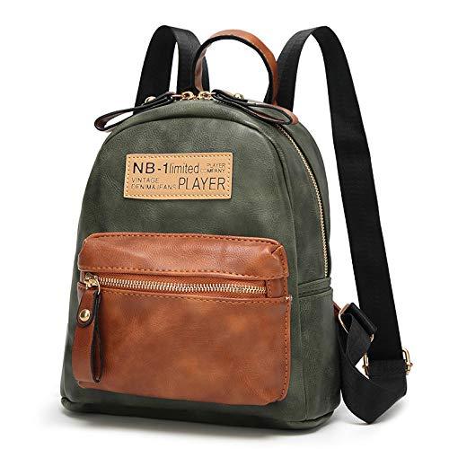 CMZ Rucksack Nähen Damenrucksack Frischer und einfacher Damenrucksack PU Oval Große Kapazität Wilde Schüler Schultasche