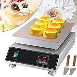 Berkalash - Máquina para souffle eléctrica, 1500 W, para hacer pancake o magdalenas, para la...