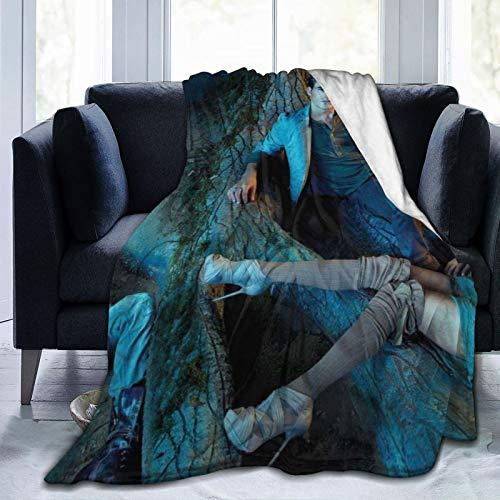 wteqofy Damon Salvatore Blanket Flannel Soft Throw Blanket Home Bed Sofa Blankets Flannel Bed Warm Blanket