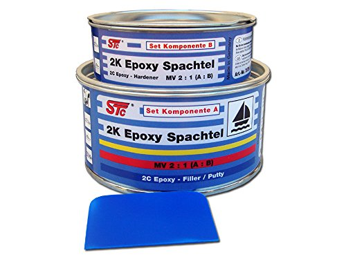 STC 2K Epoxy Spachtelmasse Set 600 g / 400 ml Bootsspachtel Set Epoxyspachtel