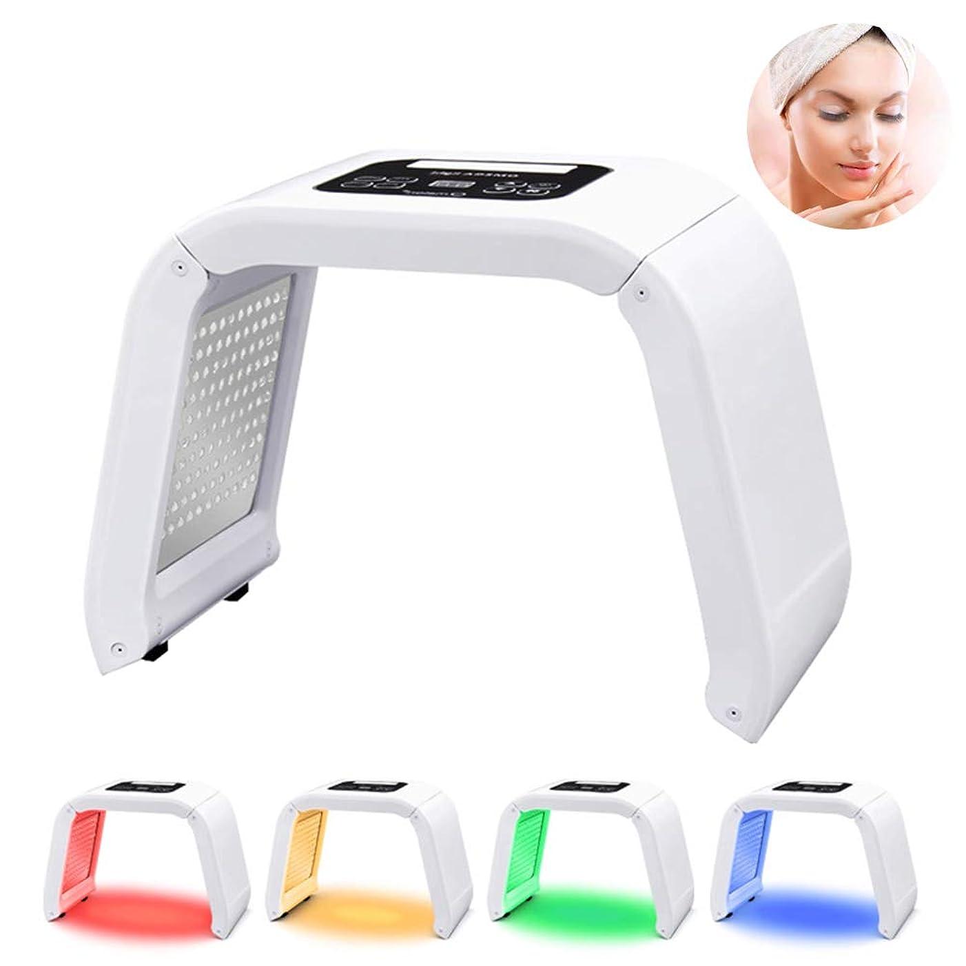 険しいリーできたPDT 4-In-1 LEDライト光線療法電気スキンケア美容装置家庭用多機能体の美容スキンケア分光器のマシン女性のための完璧なギフト