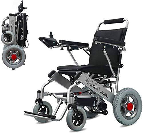 De peso ligero plegable sillas de ruedas eléctrica sillas de ruedas eléctricas, ancianos Silla de ruedas eléctrica silla de ruedas for minusválidos batería de litio recargable de aleación de aluminio
