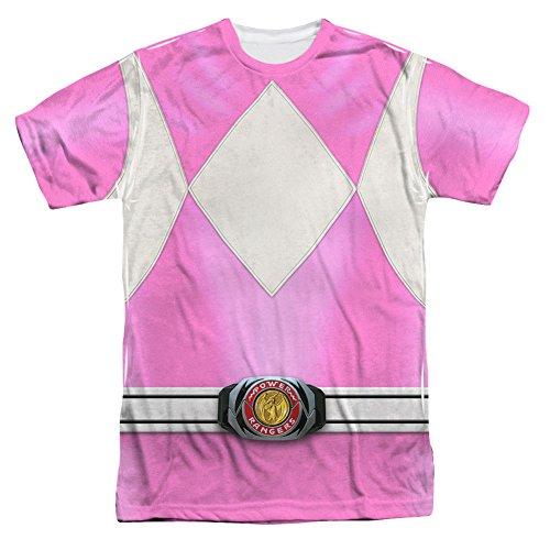 Power Rangers Kinder Live Action TV-Serie rosa Kostüm für Erwachsene -  Weiß -  Mittel