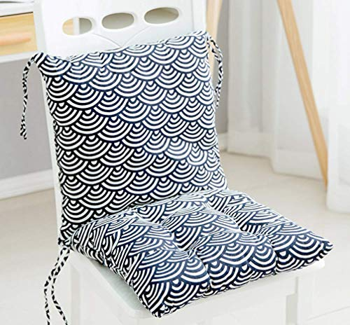 Square Chair Pad Booster Thick Seat Car Seat Cushion Chair Padded Cushion Chair Seat Pads Indoor Outdoor Splittable Washable (L)