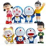 No Anime japonés de Dibujos Animados Doraemon PVC Mini Juguetes muñecas 8 unids/Set Anime Regalos Juguetes Kits Modelo