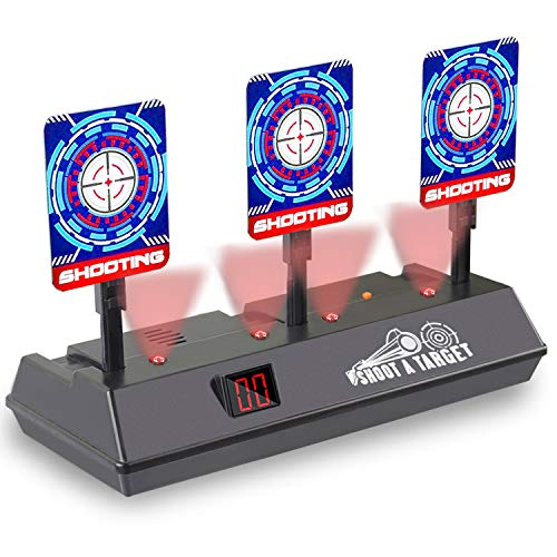 Electric Scoring Auto Reset Shooting Digital Target for Nerf Gun Targets for Shooting Toys for Boys Toys Age 812Best Gifts for Boys Girls ONLY Target