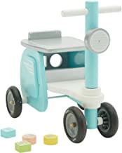 labebe Walk & Ride on Baby Balance Bikes, Push & Pull Baby Walker Toy, Foot to Floor Blue Motor Car No Pedal 4 Wheels for Toddler 1-3 Years Old Boys, First Birthday New Year Gift