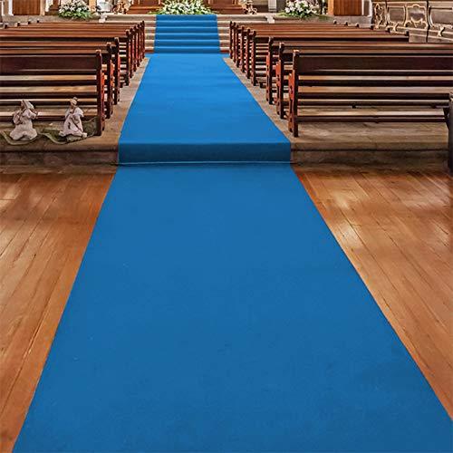 Floordirekt Gangläufer - Alfombra para Bodas (Tela de medición, ignífuga, Muchos Colores y tamaños), Hellblau 630, 200 x 300 cm