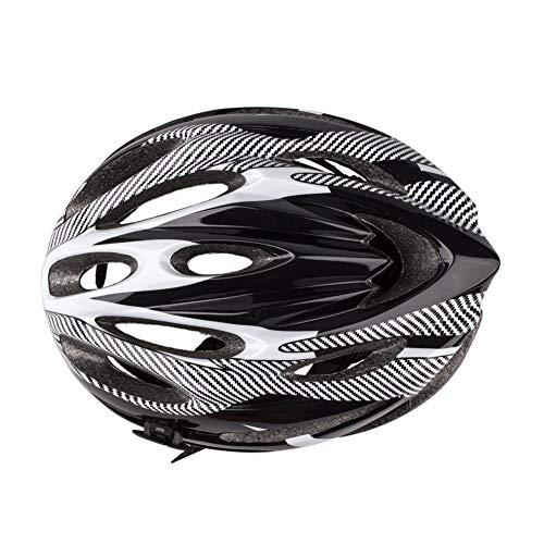 DOMIRE Casco de Bicicleta Casco de Ciclo, ventilación de Novedad Ciclismo Casco de Flujo Integrado Ventilaciones de Flujo de Carretera Casco de Seguridad Ajustable Casco de Bicicleta para Adultos
