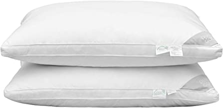 Puredown Natural Goose Down Feather Pillow Insert for Sleeping, 48x74cm-Set of 2
