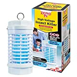 Zero In High Voltage Insect Killer (Poison-Free Bug Zapper, UV Light Lamp, Kills Flies, Midges and Mosquitoes, Home Use Electric Fly Killer)