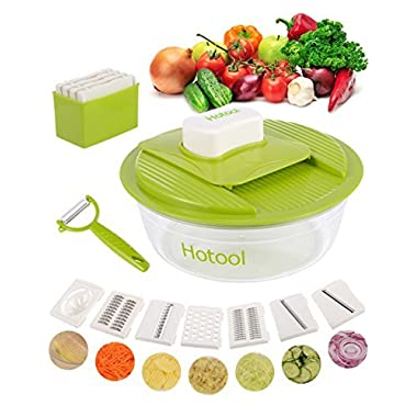 Hotool Mandoline Slicer Vegetable Slicer Vegetable Chopper Kitchen Gadget Vegetable Peeler Food Slicer Food Chopper Onion Chopper Potato Slicer