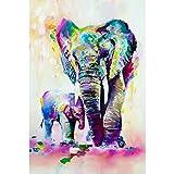 Qingdewan Puzzle Adulte 1000 Pièces Puzzle 3D Aquarelle, Animal, Samll, Éléphant, Enfants, Paquet, Décor, Hoom