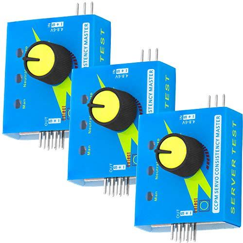 AZDelivery 3 x Servo Tester CCPM Multi Tester 3CH für Servos und ECSs Drehzahl- und Stromregler kompatibel mit Arduino inklusive E-Book!