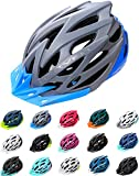 Meteor Casco Bici per Giovani e Adulti Donna e Uomo Caschi per Downhill Enduro Ciclismo MTB Helmet Ideale per Tutte Le Forme di attività in Bicicletta Marven (M(55-58cm), Grigio/Blu)