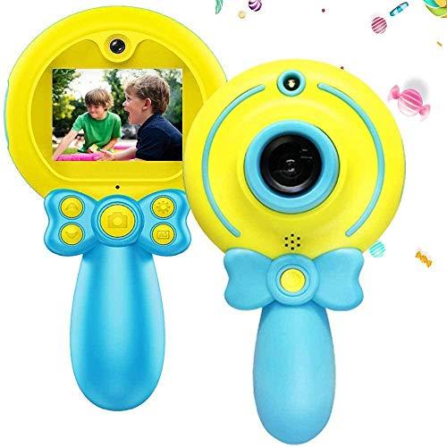 Cámaras digitales para niños para niños niñas 8 millones de píxeles antes y después de doble disparo 1080P HD Cámara de video para niños Mini videocámara Regalo para niños de 3 a 12 años Cámara p