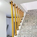 YUDE-Creative Barandilla de Escalera de Madera Maciza, barandilla de Barra de Pino (envíenos Datos de tamaño específico después de la Compra)