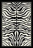 Debonsol - Tapis Salon Peau DE BÊTE Zebre Noir crème 120x170cm