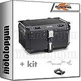 kappa maleta kfr580b k'force 58 lt + portaequipaje monokey compatible con bmw k75 750