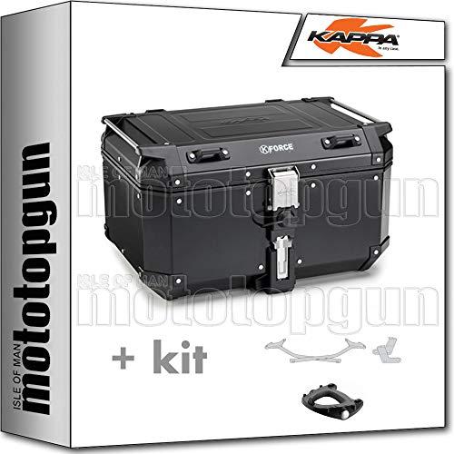 kappa maleta kfr580b k'force 58 lt + portaequipaje monokey compatible con yamaha tracer 700 2020 20