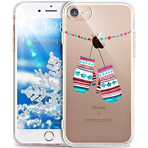 SevenPanda für iPhone XR Hülle, für iPhone XR Schutzhülle Clear Bumper TPU Silikon Winter Weihnachtsserie für iPhone XR Case Cover - Handschuhe