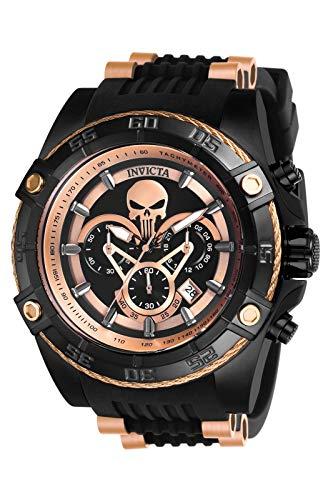 Invicta 26861 Marvel Punisher Reloj para Hombre acero inoxidable Cuarzo Esfera negro