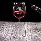 LUCOG Bouteille d'infusion, Hippocampe Maison Verre de vin Rouge Bouteille de vin Cristal ...