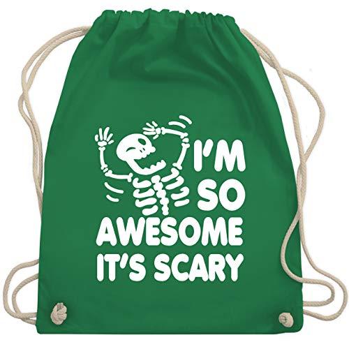 Shirtracer Halloween - I'm so awesome it's scary - Unisize - Grün - Halloween - WM110 - Turnbeutel und Stoffbeutel aus Baumwolle