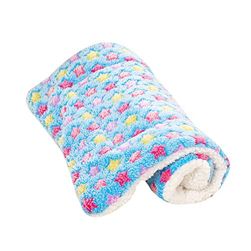 Feli546Bruce Haustierbett, mit Sternen-Aufdruck, Flanell, warm, weich, für Hunde und Katzen, Haustier-Haus, Hundehütte, Plüsch-Hundebett, groß, warm, kuschelig, weich, für Welpen, Katzen, Schlafsack