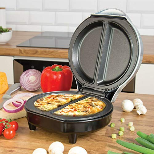 FiNeWaY@ WHITE ELECTRIC OMELETTE MAKER FRYING PAN EGG COOKER BREAKFAST NON STICK 1000W by LIVIVO