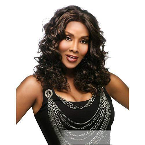 Longs cheveux bouclés longs ondulés bruns et noirs, 55cm, cheveux artificiels, soie haute température à fibres chimiques, perruques utilisées par les femmes pour un usage quotidien