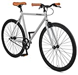 Retrospec Harper Single-Speed Fixed Gear Urban Commuter Bike, 57cm, l, Slate