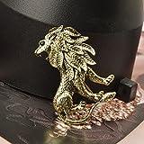 Harilla Broche de Bronce Antiguo con Forma de Rey León, Decoración de Ropa Animal