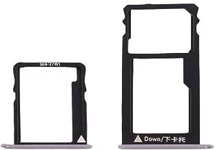 ZHANGHONGMEI for Huawei Electronics HwFor Huawei Honor 5X / GR5 Micro SIM Card Tray + Nano SIM & Micro SD Card Tray(Grey) (Color : Grey)