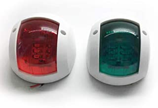 Red Green LED Marine Navigation Light 12V 24V Boat Bow Light Marine Boat Singnal Light, Perfect for Pontoon, Skeeter, Powe...