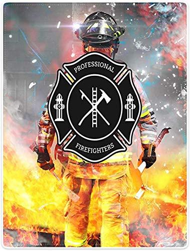 QMGLBG 3D-Druck Flanelldecke Feuerwehrmann Junge Mädchen Plüschdecke super weich antiallergisch bequem Sofa Schlafzimmer Bettwäsche Urlaubsgeschenk-180cm * 240cm