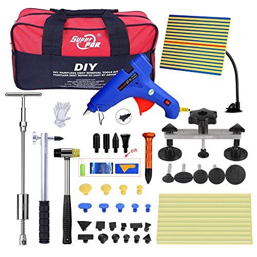 fly5dpaintless reparación PDR herramientas abolladuras elevador Auto/Coche Cuerpo granizo Kit bolsa de eliminación de abolladuras y Ding extractor Set con pegamento Pop a Dent Remover Lifter
