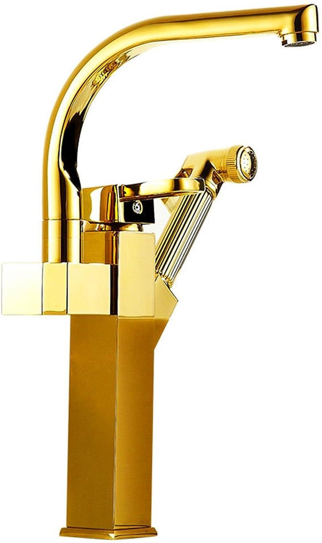 Gyps Faucet Waschtisch-Einhebelmischer Waschtischarmatur BadarmaturDas Badezimmer Küche Wasserhahn Warmes und Kaltes Becken Tippen Spülmittel Waschbecken Wasserhahn 13 Ziehen,Mischbatterie Waschb