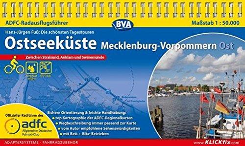 ADFC-Radausflugsführer Ostseeküste Mecklenburg-Vorpommern Ost 1:50.000 praktische Spiralbindung, reiß- und wetterfest, GPS-Tracks Download: Zwischen Stralsund und Usedom