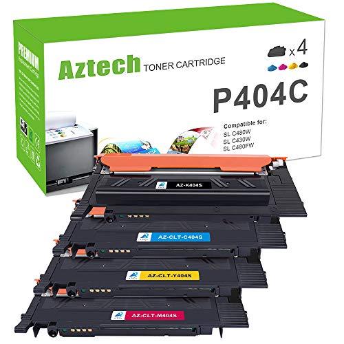 Aztech Kompatibel P404C für Samsung CLT-K404S CLT K404S CLT-P404C CLT-Y404S CLT-C404S CLT-M404S für Samsung Xpress C480W C480FW C430W Toner Samsung C480W C480FW C430W SL-C480W SL-C480 SL-C430 Toner